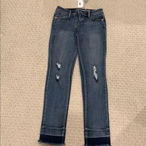 NWT Tractr Girls Raw Hem Skinny Jean